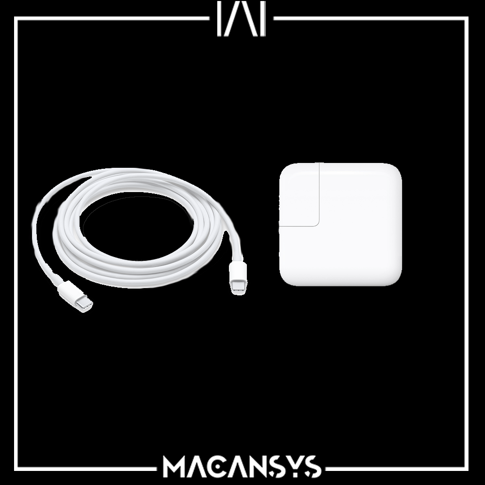 USB-C Power 61W Adapter and USB-C Charge Cable for MacBook Pro