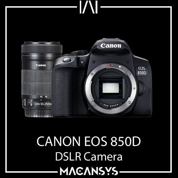 CANON EOS 850D DSLR Camera with EFS 18-135mm f/3.5-5.6 IS USM Lens24.1 megapixel